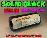 "ACRYLIC BARREL - SOLID BLACK Barrel Blank 2.7"" x 1.4"" OD & 5/8"" Bore Top Grade Acrylic!!"