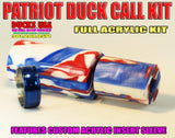 DUCK CALL KIT - ULTRA ACRYLIC PATRIOT EXOTIC SWIRL with Matching Insert