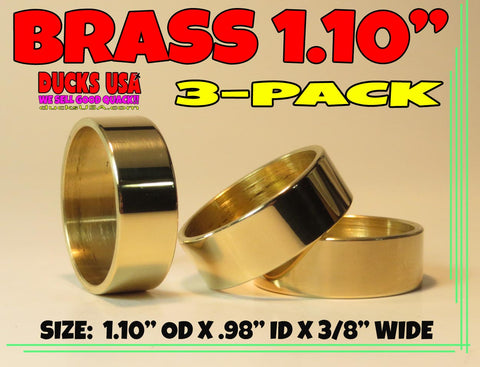 "BANDS - 1.10"" BRASS POLISHED 1.10"" OD X .98"" ID X 3/8"" WIDE SPECIAL 3-PACK"