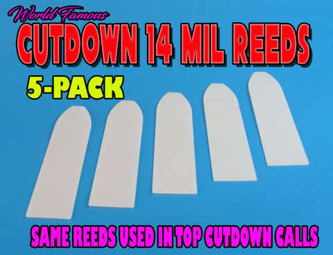 CUT DOWN REEDS - World Champion Quality 14 mil Cut Down Mylar Reeds 5-PACK