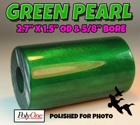 "ACRYLIC BARREL - PEARL GREEN Barrel Blank 2.7"" x 1.5"" OD & 5/8"" Bore Top Grade Acrylic!!"