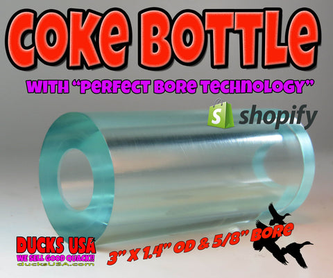 ACRYLIC BARREL - TRANSPARENT COKE BOTTLE Barrel Blank PERFECT BORE TECHNOLOGY