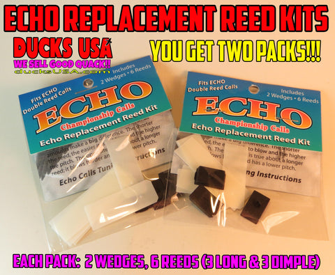 REED KIT - ECHO Duck Call Reed Replacement Reed Kit X 2 - You Get Two Packs!!