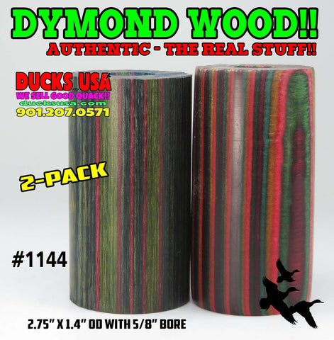 "DYMOND WOOD - AUTHENTIC 2-PACK Barrel Blanks ""Ready to Shape"" Rare Colors #1144"