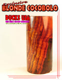 "WOOD - COCOBOLO Barrel Blanks Blonde & Highly Figured 2.7"" X 1.4"" & 5/8"" BORE"
