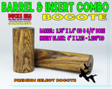 "WOOD - BARREL & INSERT BLANK COMBO BOCOTE ""Ready to Shape"" Premium Selects!"