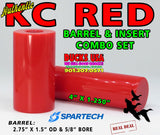 ACRYLIC COMBO  - KC RED COMBO Authentic Original by Spartech Barrel & Insert Blank Combo Set