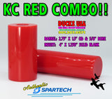 "ACRYLIC - KC RED from SPARTECH - This is AUTHENTIC KC RED full 48"" Rod x 1.125"" OD"