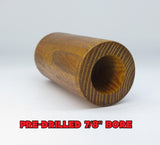 "WOOD - HEDGE OSAGE ORANGE GOOSE BARREL PRE-DRILLED 7/8"" BORE"
