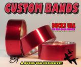 "BANDS - CANDY APPLE RED Aluminum Bands 2-PACK 1.25"" OD x 1.17"" ID"