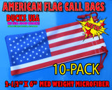 BAGS - American Flag Call Bags 10-PACK Med Weight Microfiber Premium Call Bags