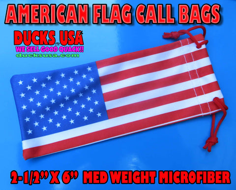 BAGS - American Flag Call Bags 5-PACK Med Weight Microfiber Premium Call Bags