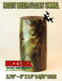 "ACRYLIC BARREL - ROOT BEER FLOAT Exotic Swirl 2.7"" x 1.4"" OD & 5/8"" Bore - 1 BARREL"