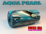 "ACRYLIC BARREL - AQUA PEARL Exotic Swirl 2.7"" x 1.4"" OD & 5/8"" Bore - 1 BARREL"