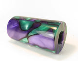 "ACRYLIC BARREL -  MARDI GRAS Exotic Swirl 2.7"" x 1.4"" OD & 5/8"" Bore - 1 BARREL"