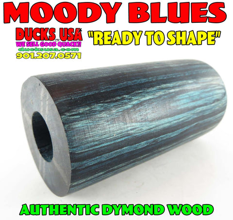 "DYMOND WOOD - AUTHENTIC MOODY BLUES Duck Call Barrel ""Ready to Shape"""