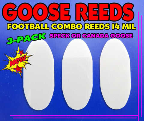 GOOSE REED - 14 MIL MYLAR CANADA GOOSE REED 3-PACK FOOTBALL STYLE