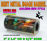 "ACRYLIC IMAGE BARREL -  BENT METAL HOT NEW IMAGE BARREL DUCKS USA EXCLUSIVE 2.7"" x 1.4"" OD & 5/8"" Bore"