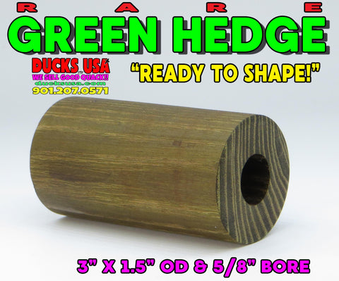 "WOOD - GREEN HEDGE OSAGE ORANGE HARD-TO-FIND Pre-Drilled and""Ready to Shape"""