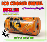 "ACRYLIC BARREL - ICE CREAM Exotic Swirl 2.7"" x 1.4"" OD & 5/8"" Bore - 1 BARREL"