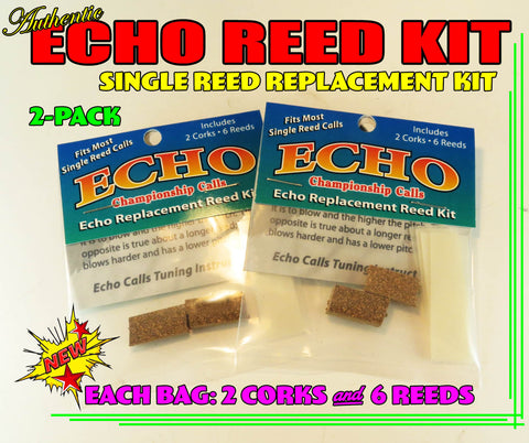 REED KIT - ECHO Duck Call SINGLE Reed Replacement Reed Kit X 2 - You Get Two Packs!!