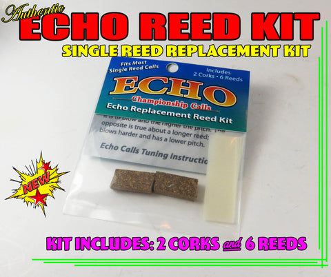 REED KIT - ECHO Duck Call SINGLE Reed Replacement Kit w/  2 Cork, 6 Reeds