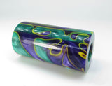"ACRYLIC - MARDI GRAS 2021 NEW COLOR EXOTIC SWIRL ""Ready to Shape"" Barrel Blank"