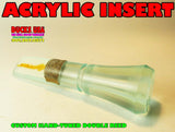 INSERT - ACRYLIC Timber Style COKE BOTTLE Double Reed Custom Made on CNC