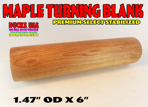 WOOD - MAPLE STABILIZED Premium Select Solid Turning Blank #1548