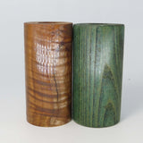 "WOOD - EXOTIC WOOD TWO-PACK Premium Select Stabilized Dyed Unique Duo 2.7"" X 1.4"" OD #1857"