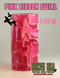 "ACRYLIC BARREL - PINK SWIRL Barrel Blank 2.7"" x 1.4"" OD with 5/8"" Bore"