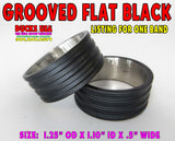 "BANDS - STAINLESS STEEL GROOVED FLAT BLACK STAINLESS STEEL  - 1.25"" OD X .5"" WIDE 1-BAND"