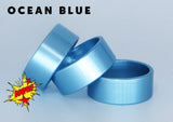 "BANDS - ANODIZED BLUE BANDS 1.25"" OD X 1.10"" ID X .5"" WIDE Special 3-PACK"