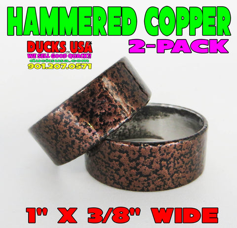"BANDS - 1.0"" ALUMINUM NEW HAMMERED COPPER STYLE 1"" OD X .94"" ID X 3/8""  2-PACK"
