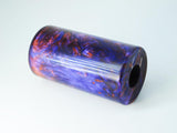 "ACRYLIC BARREL - HYPER SWIRL ""READY TO SHAPE"" 2.7"" x 1.5"" OD & 5/8"" Bore #1889"