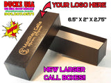 BOXES - Call Boxes BLACK NEW HARD BOXES with YOUR LOGO laser Engraved 30-BOX SET