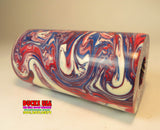 "ACRYLIC BARREL - PATRIOT RED, WHITE & BLUE HYPER SWIRL Hot New Style ""Ready to Shape"" Awesome!!"