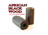 WOOD -  BARREL & INSERT BLANK COMBO AFRICAN BLACKWOOD PREMIUM SELECTS
