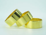 "BANDS - BRASS 1.25"" OD x 1.17"" ID x 1/2"" Wide HIGHLY POLISHED SPECIAL 3-PACK"