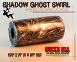 "ACRYLIC BARREL - SHADOW GHOST Exotic Swirl 2.7"" x 1.4"" OD & 5/8"" Bore - 1 BARREL"