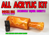 DUCK CALL KIT - ULTRA ACRYLIC ORANGE JULIUS SWIRL & Matching Insert