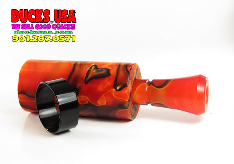DUCK CALL KIT - ULTRA ACRYLIC HOT LAVA EXOTIC SWIRL & Matching Insert All Acrylic