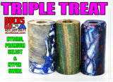 HYBRID, WOOD & ACRYLIC - AMAZING TRIPLE TREAT 3-PACK WITH PREMIUM HYBRID, HAND POUR, & DYED BARREL #1925