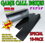 BOXES - Basic Black Call Boxes Special 10-PACK - Boxes Ship Flat
