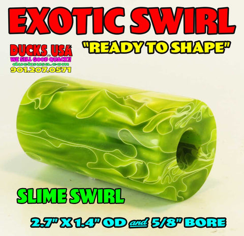 "ACRYLIC BARREL - SLIM SWIRL NEW EXOTIC SWIRL BARREL BLANK ""READY TO SHAPE"""