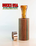 DUCK CALL KIT - DYMOND WOOD DESERT HONEY with Amber Polycarb & Polished Band