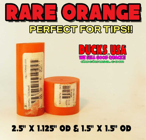 ACRYLIC BARREL - ORANGE ACRYLIC SUPER RARE NO LONGER MADE 2 EACH SHORTS