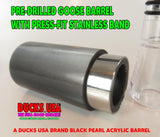 GOOSE CALL KIT - BLACK PEARL Acrylic Barrel with Press-fit Stainless Band & Polycarb Insert