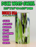 "ACRYLIC BARREL - DUCK WEED Exotic Swirl Barrel Blank Hot New Color 2.7"" x 1.4"" OD & 5/8"" Bore"