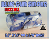 "ACRYLIC BARREL - BLUE GUN SMOKE Exotic Swirl 2.7"" x 1.4"" OD & 5/8"" Bore - 1 BARREL"